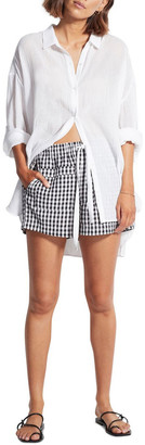 Seafolly Check In Gingham Shorts 54284-SH