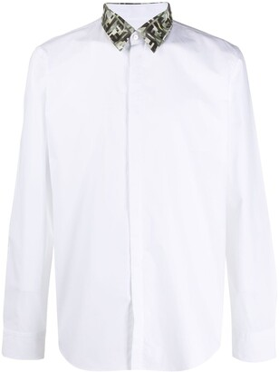 Fendi Contrasting Collar Shirt