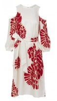 Tibi Orla Bloom Cut Out Midi Dress