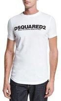 DSQUARED2 Logo Short-Sleeve T-Shirt, White