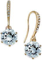 Charter Club Gold-Tone Cubic Zirconia Drop Earrings, Only at Macy's