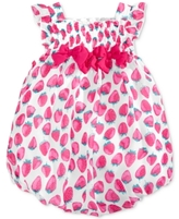 First Impressions Strawberry-Print Bubble Romper, Baby Girls (0-24 months)