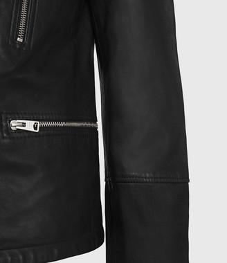 AllSaints Catch Leather Biker Jacket