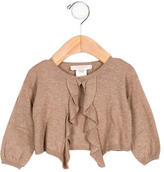Caramel Baby & Child Girls' Ruffle-Trimmed Long Sleeve Cardigan