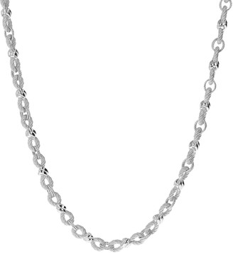 "Judith Ripka Sterling Infinity Link 20"" Necklace, 51.0g"