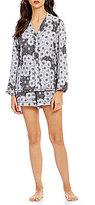 Josie Cosmos Floral Twill Pajamas