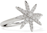 Kenneth Jay Lane Rhodium-plated Cubic Zirconia Ring - Silver