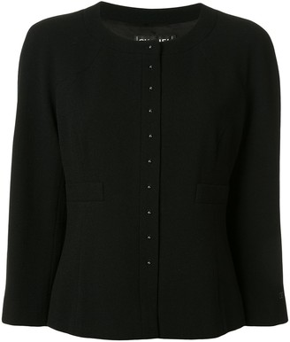 Chanel Pre Owned Slim-Fit Collarless Jacket