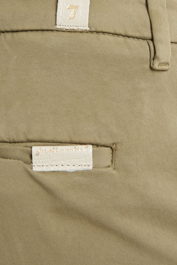 Thumbnail for your product : 7 For All Mankind Chino Cropped Cotton-blend Tapered Pants