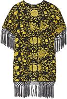 Alice + Olivia Onella embroidered silk kimono jacket