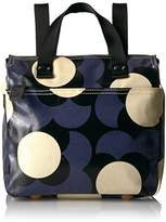 Orla Kiely Shiny Laminated Shadow Flower Print Small Backpack