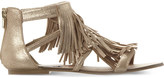 Steve Madden Favorit metallic-leather sandals