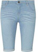 Dorothy Perkins Womens Light Wash Denim Knee Shorts- Blue