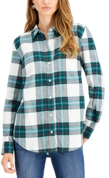Style&Co. Style & Co Flannel Plaid Shirt, Created for Macy's