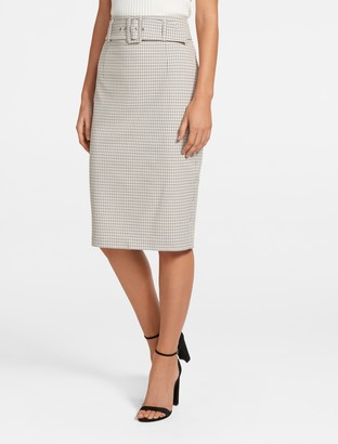 Ever New Charlie Belted Pencil Skirt