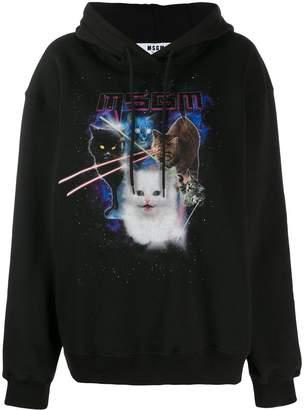 MSGM graphic cat hoodie