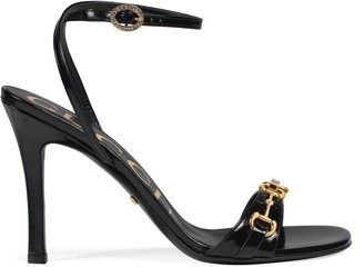 Gucci Women's leather sandal with Horsebit chain