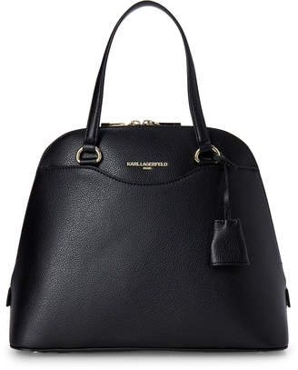 Karl Lagerfeld Paris Black Doreen Leather Satchel