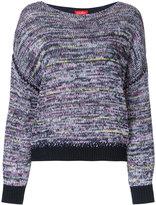 Coohem boat neck jumper - women - Cotton/Linen/Flax/Acrylic/Polyester - 38