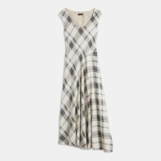 Theory Plaid Asymmetric Tango Dress