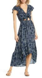 Surf.Gypsy Distress Diamond High/Low Cover-Up Dress