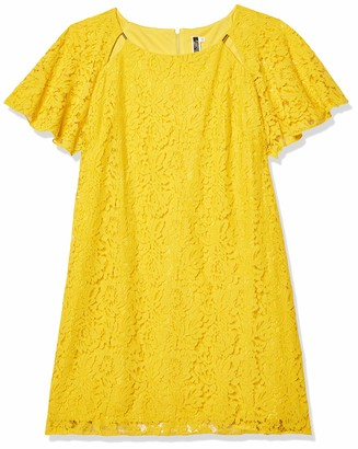 Julian Taylor Women's All Over Lace Shift Dress