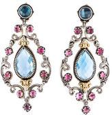 Konstantino Topaz & Tourmaline Chandelier Earrings