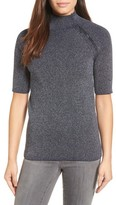 Kenneth Cole New York Women's Elbow Sleeve Mock Neck Sweater