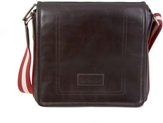 Bally Terlago Stripe-Strap Leather Crossbody Bag