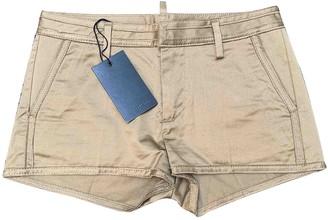 DSQUARED2 Gold Cotton Shorts