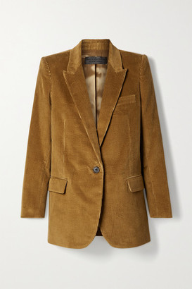 Nili Lotan Diane Cotton-corduroy Blazer - Light brown