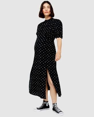 Topshop Maternity Printed Midi Dress
