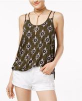 Hippie Rose Juniors' Printed Double-Strap Tank Top