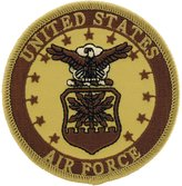 FindingKing U.S. Air Force Logo Patch Brown 3""