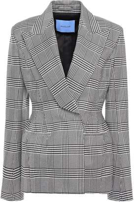 Thierry Mugler Prince Of Wales Checked Woven Blazer
