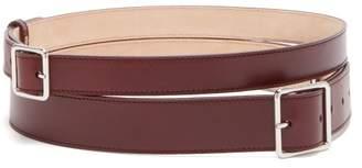 Alexander McQueen Double-wrap Leather Belt - Womens - Burgundy