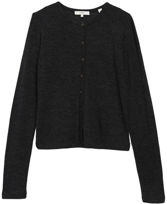 Vince Classic Button Front Wool Cardigan