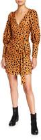 Rhode Resort Frankie Cheetah-Print Wrap Dress