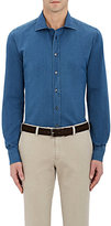 Luciano Barbera Men's Cotton Button-Front Shirt