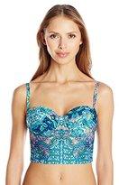 Kenneth Cole Reaction Women's Scarfs On Deck Underwire Bustier Bikini Top