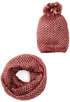 Steve Madden Metal Detector Scarf and Beanie Set