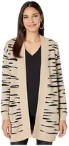 BB Dakota Soft Safari Abstract Zebra Jacquard Cardigan (Light Camel) Women's Sweater