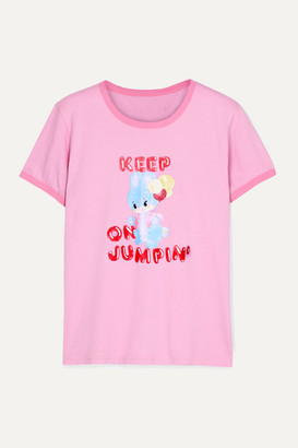 Marc Jacobs + Magda Archer Printed Cotton-jersey T-shirt - Baby pink