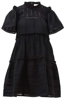 Sea Pascale Ruffled Cotton Dress - Womens - Black