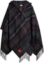 Vivienne Westwood Tassel-trimmed checked poncho