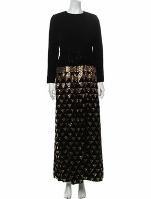Oscar de la Renta Vintage Long Dress Black