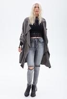 Forever 21 high-waist - distressed acid wash skinny jeans