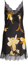 Carine Gilson Orchid-print silk-satin cami dress
