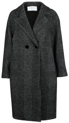 Harris Wharf London Glen plaid coat