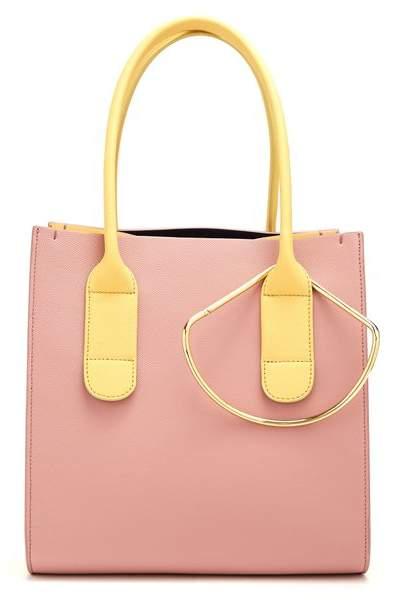 Roksanda Mini Weekend Leather Bag - Womens - Yellow Multi